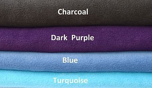 Colour Swatch  Charcoal Dark Purple Blue Turquoise
