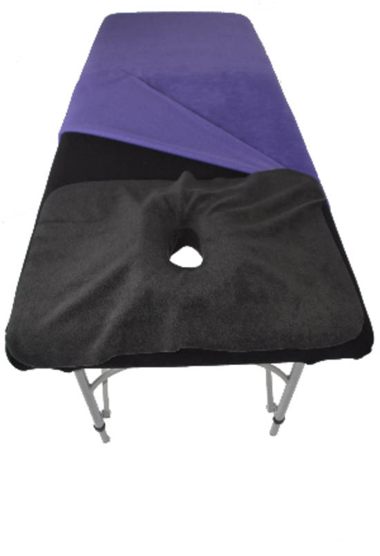 Charoal colour small face hole drape with insert-499
