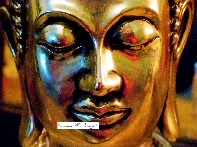 Gold buddha close up c-481