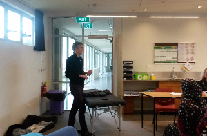 Graeme giving talk at South Pacific College of Natural Medicine