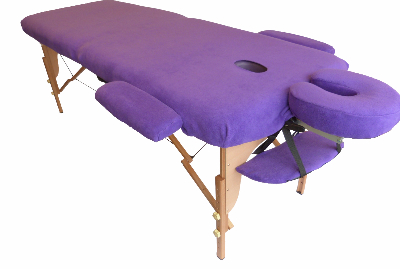Massage Table with Purple Polar Fleece covers-612