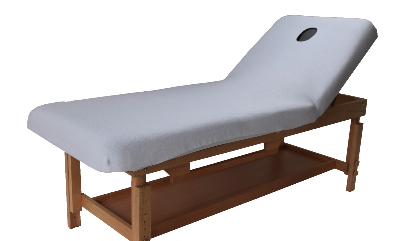 Non Portable table with white polar fleece cover-903