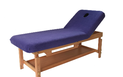 Non portable table with polar fleece cover purple-701