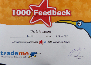 Certificate Award from Trademe