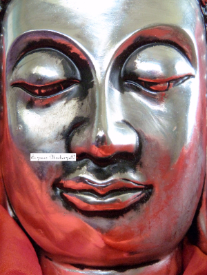 Silver and Orange Buddha-402-739