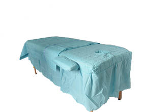 Turqouise Table cover with skirt and blanket armrest covers