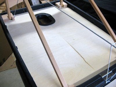 Massage Table with crack in less than 5.2 mm plywood