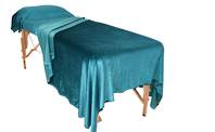 Massage Table Cover in  Spun Velvet, blanket and pillow case